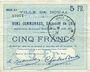 Banknotes Douai (59). Ville. Billet. 5 francs 30.8.1914, série D5