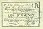 Banknotes Douai et Région de Carvin (59). Billet. 1 franc 22.5.1916, 1ère série B