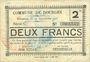 Banknotes Dourges (62). Commune. Billet. 2 francs 24.12.1915, série C