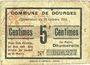 Banknotes Dourges (62). Commune. Billet. 5 centimes 18.10.1915