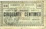 Banknotes Dourges (62). Commune. Billet. 50 centimes 15.4.1915, série PQ
