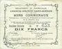 Banknotes Ecourt Saint-Quentin (62). Commune. Billet. 10 francs 20.12.1914, 2e émission