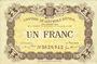 Banknotes Epinal (88). Chambre de Commerce. Billet. 1 franc 25.6.1921