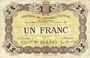 Banknotes Epinal (88). Chambre de Commerce. Billet. 1 franc 29.5.1920