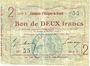 Banknotes Essigny-le-Grand (02). Commune. Billet. 2 francs 5.7.1915, série 5.  N° 55 !