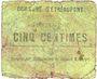 Banknotes Etréaupont (02). Commune. Billet. 5 centimes