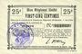 Banknotes Etreux (02). Commune. Billet. B.R.U., 25 centimes