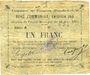 Banknotes Fampoux (62). Commune. Billet. 1 franc 18.3.1915, série A