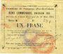 Banknotes Fampoux (62). Commune. Billet. 1 franc 18.3.1915, série B
