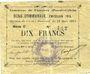 Banknotes Fampoux (62). Commune. Billet. 2 francs 18.3.1915, série C