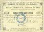 Banknotes Feuchy (62). Commune. Billet. 25 cmes 22.8.1915