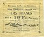 Banknotes Flers-en-Escrébieux (59). Commune. Billet. 10 francs, émission 1914, série I