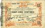 Banknotes Fourmies (59). Bon Régional des Départ. du Nord, Aisne & Oise. Billet 25 cmes 24.10.1915, 1ère série