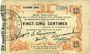Banknotes Fourmies (59). Bon Régional des Départ. du Nord, 'Aisne & Oise. Billet. 25 cmes 24.10.1915, 2e série
