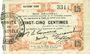 Banknotes Fourmies (59). Bon Régional des Départ. du Nord, Aisne & Oise. Billet. 25 cmes 24.10.1915, 8e série