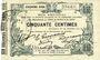 Banknotes Fourmies (59). Bon Régional des Départ. du Nord, Aisne & Oise. Billet. 50 cmes 24.10.1915, 5e série