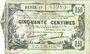 Banknotes Fourmies (59). Bon Régional des Départ. du Nord, Aisne & Oise. Billet. 50 cmes 8.5.1915, série 17