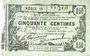 Banknotes Fourmies (59). Bon Régional des Départ. du Nord, Aisne & Oise. Billet. 50 cmes 8.5.1915, série 18