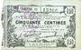 Banknotes Fourmies (59). Bon Régional des Départ. du Nord, Aisne & Oise. Billet. 50 cmes 8.5.1915, série 22
