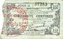 Banknotes Fourmies (59). Bon Régional des Départ. du Nord, Aisne & Oise. Billet. 50 cmes 8.5.1915, série 31