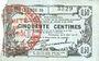 Banknotes Fourmies (59). Bon Régional des Départ. du Nord, Aisne & Oise. Billet. 50 cmes 8.5.1915, série 35