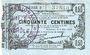 Banknotes Fourmies (59). Bon Régional des Départ. du Nord, Aisne & Oise. Billet. 50 cmes 8.5.1915, série 3