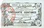 Banknotes Fourmies (59). Bon Régional des Départ. du Nord, Aisne & Oise. Billet. 50 cmes 8.5.1915, série 48