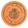 Banknotes Fourmies (59). Ville. Billet. 5 centimes n. d.