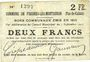 Banknotes Fresnes-les-Montauban (62). Commune. Billet. 2 francs 3.9.1915