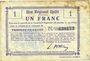 Banknotes Fresnoy-le-Grand (02). Ville. Billet. B.R.U., 1 franc