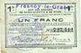Banknotes Fresnoy-le-Grand (02). Ville. Billet. S.Q.G., 1 franc 8.8.1916