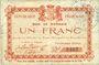 Banknotes Glageon (59). Commune. Billet. 1 franc 26.11.1914, 1ère série