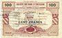 Banknotes Gommegnies (59). Société des Bons d'Emission. Billet. 100 francs, série 3