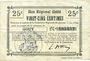 Banknotes Gouy (02). Commune. Billet. B.R.U., 25 cmes