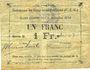 Banknotes Gouy-sous-Bellonne (62). Commune. Billet. 1 franc, émission 1914, série O