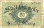 Banknotes Guebwiller (68). Billet. 50 pf (1917), sans série