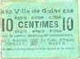 Banknotes Guise (02). Ville. Billet. 10 centimes, rameau vers la droite