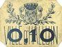 Banknotes Halluin (59). Ville. Billet. 10 centimes