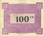 Banknotes Ham, Noyon & Saint-Simon (80). Union des Communes. Billet. 100 francs