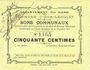 Banknotes Hem-Lenglet (59). Commune. Billet. 50 centimes 20.12.1914, N° de planche 41.715 sans signatures