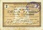 Banknotes Hirson (02). Ville. Billet. 2 francs 25.6.1915