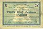 Banknotes Hirson (02). Ville. Billet. 25 centimes 28.1.1915