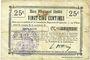 Banknotes Holnon (02). Commune. Billet. B.R.U., 25 centimes