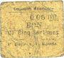 Banknotes Hornaing (59). Commune. Billet. 5 centimes