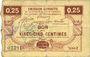 Banknotes Houdain (Houdain-les-Bavay) (59). Pour les Maires des Communes adhérentes. Billet. 25 cmes, série 2