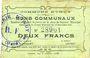 Banknotes Iwuy (59). Commune. Billet. 2 francs 19.11.1914