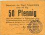 Banknotes Kaysersberg (68). Ville. Billet. 50 pfennig 17 août 1917, annulation par cachet ENTWERTET