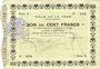 Banknotes La Fère (02). Ville. Billet. 100 francs 12.2.1915, série A