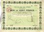 Banknotes La Fère (02). Ville. Billet. 100 francs 30.11.1914, série A