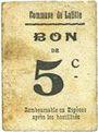 Banknotes Lafitte (47). Commune. Billet. 5 centimes